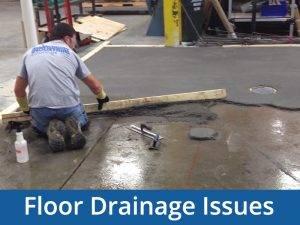 floor drainage issues