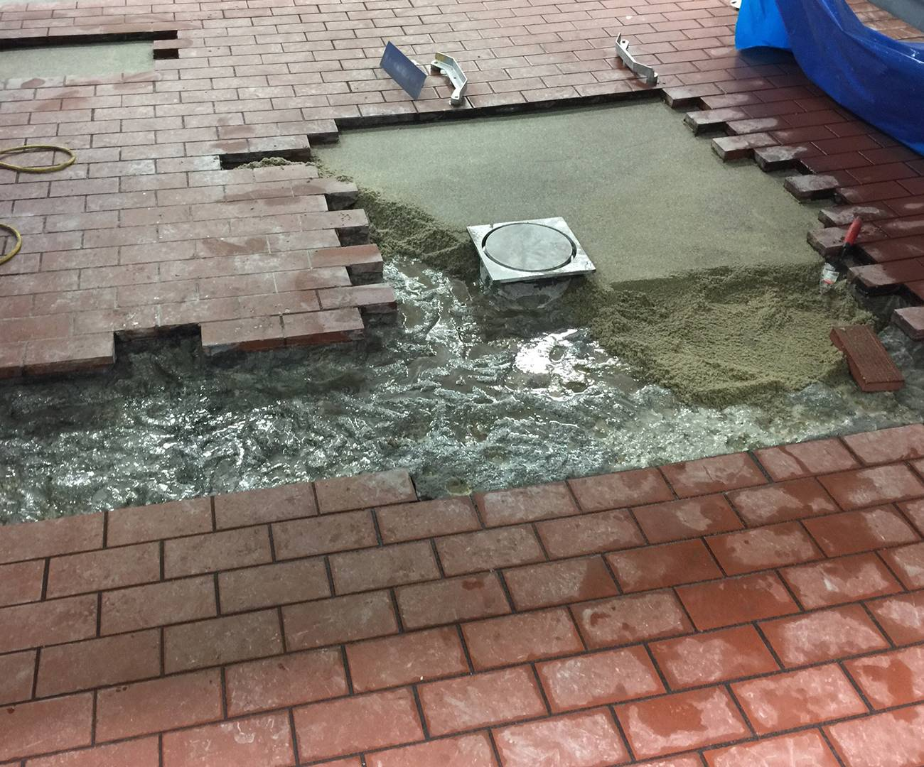 Brick Floor Paint : Brick flooring progress archway coatings